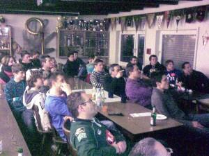 Rugby im Klubhaus