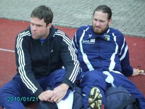 Wurden veletzt ausgewechselt: Mathias Pipa und Felix Bayer