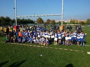Auch die U10 des TSV spielt tolles Rugby