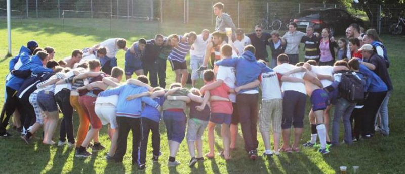 """Mit einem großen """"Löwengebrüll"""" verabschiedeten sich die Handschuhsheimer Nachwuchsmannschaften in Berlin in die Sommerpause"""