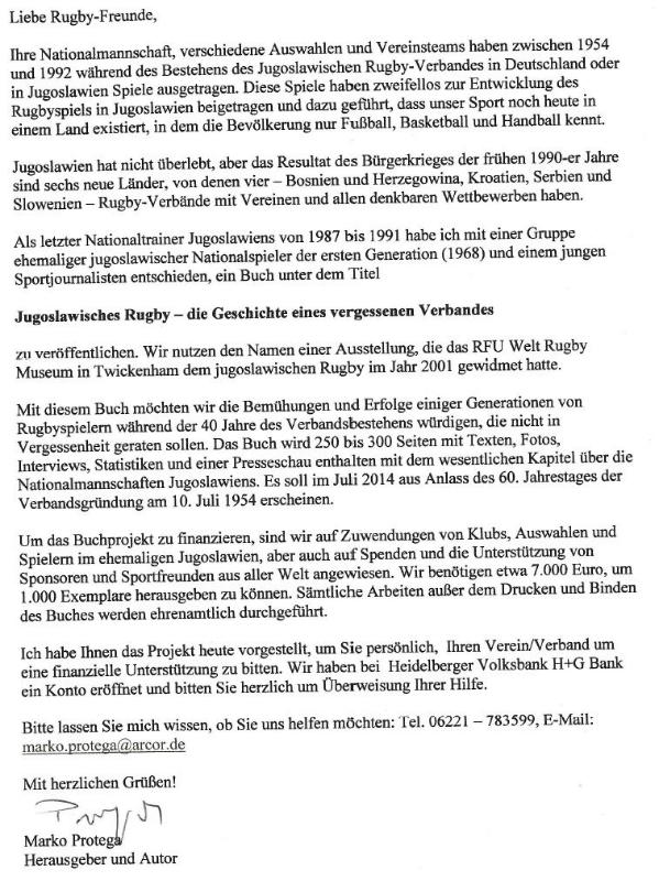 Brief Marko Protega