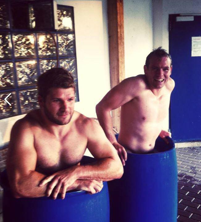 Nach den Training gab es ein Eisbad zur Erfrischung