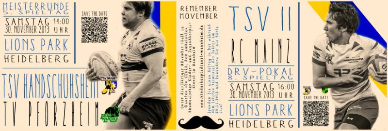 Langer Rugbytag am Samstag
