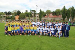 Die Löwen-U16 mit den Gastgebern