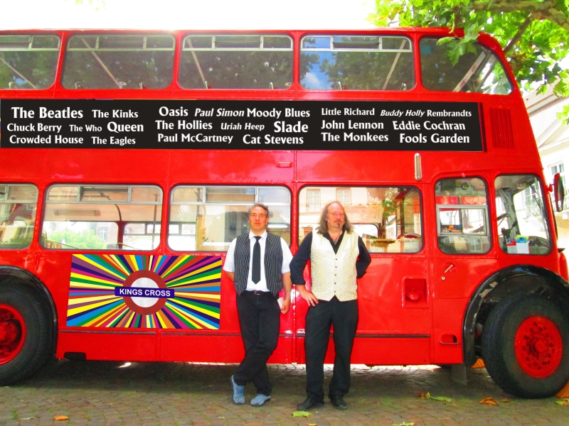 ...Sonntags Kings Cross-Bus