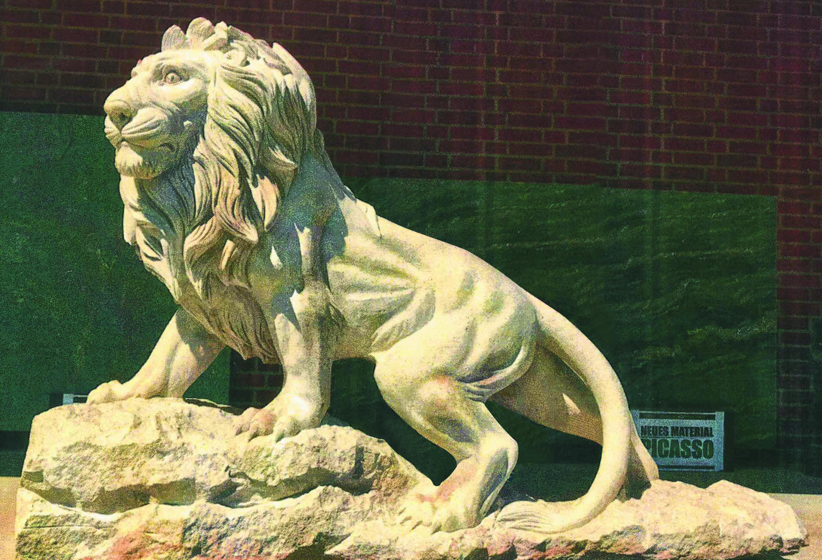Begrüßt ab jetzt die Besucher des Lionspark: Der Hendsemer Löb.