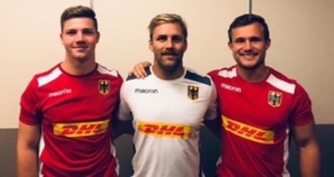 Nikolai Klewinghaus (von links nach rechts), Jaco Otto und Marcel Coetzee freuen sich auf das erste Spiel. Foto: Robert Martin.