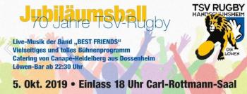 Jubiläumsball 70 Jahre TSV-Rugby